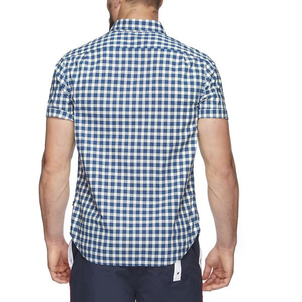 SHORT SLEEVE CLASSIC PLAID SHIRT, SEA NAVY NTR, hi-res