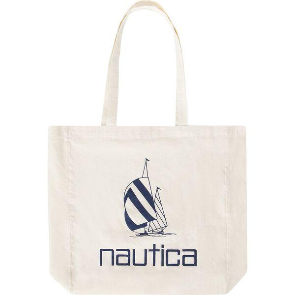 Nautica Vintage Spinnaker Tote Bag, Natural, hi-res
