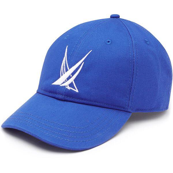 Blue Sail Large Logo Baseball Cap, Bright Nautica Blue, hi-res