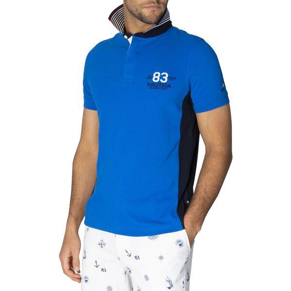 Slim Fit N83 Sailing Team Polo, Spinner Blue, hi-res