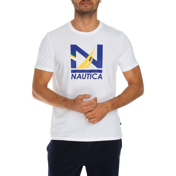 N Primary Graphic Tee, Bright White, hi-res