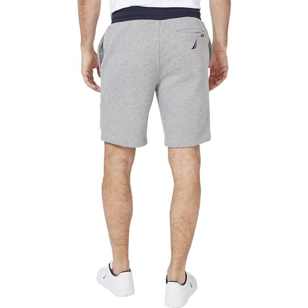 Nautica Logo Fleece Track Shorts, Stone Grey Heather, hi-res