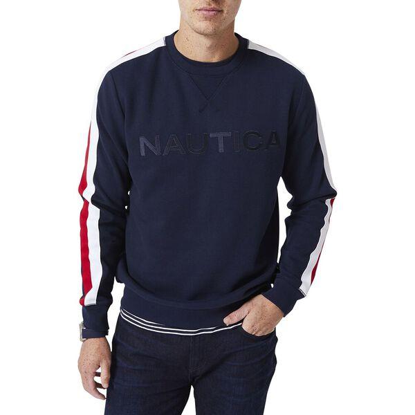 Vintage Fit Nautica Logo Crew Neck Jumper, Navy, hi-res