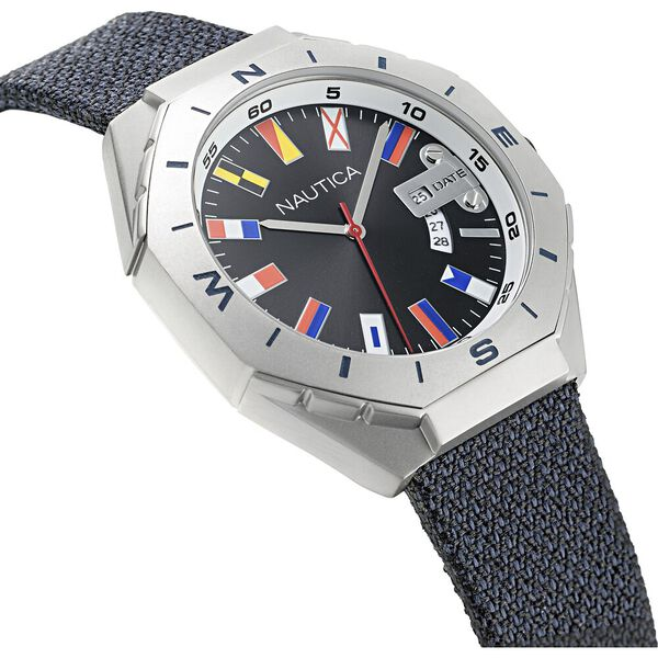 Love The Ocean Recycled N83 Watch, Black Iron Wash, hi-res