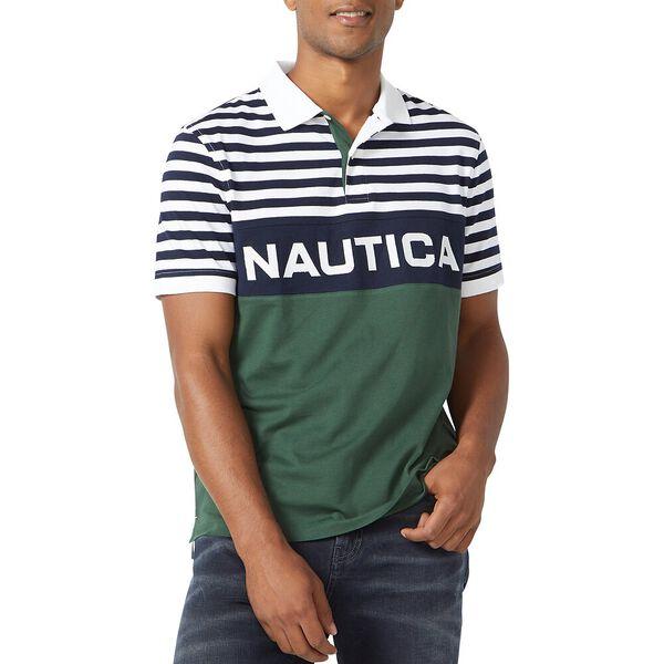 Stripe Top Nautica Polo, Bright White, hi-res