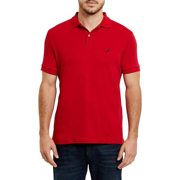 SLIM FIT INTERLOCK POLO, NAUTICA RED, hi-res