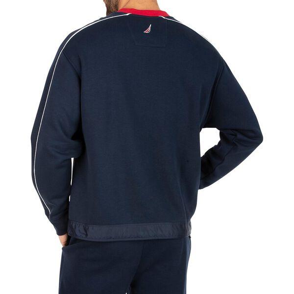 Vintage Fit Heritage Blocked Crew Neck Sweater, Navy, hi-res