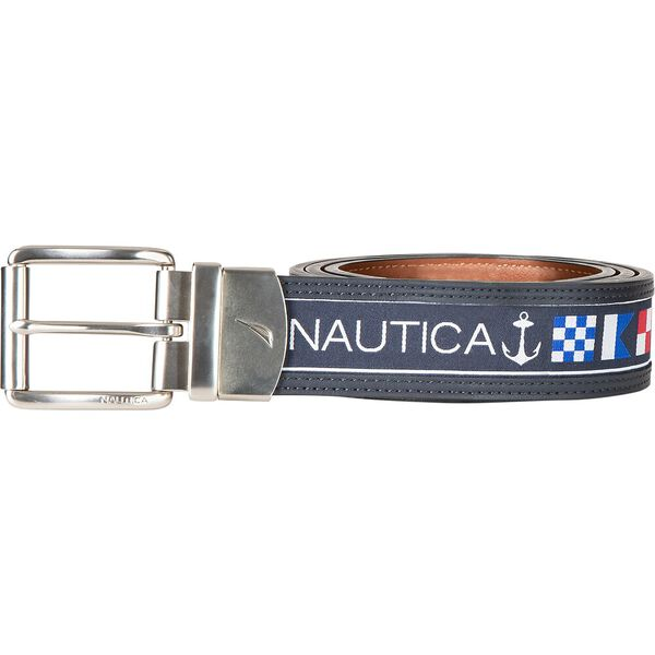 Reversible Belt In Nautical Flag