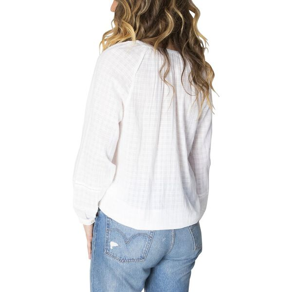 Sienna Crothet Trim Top, Bright White, hi-res