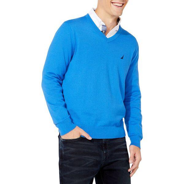 Navtech V-neck Jersey Sweater, Spinner Blue, hi-res