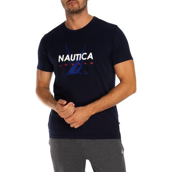NAUTICA SAILING FLAGS TEE, Navy, hi-res