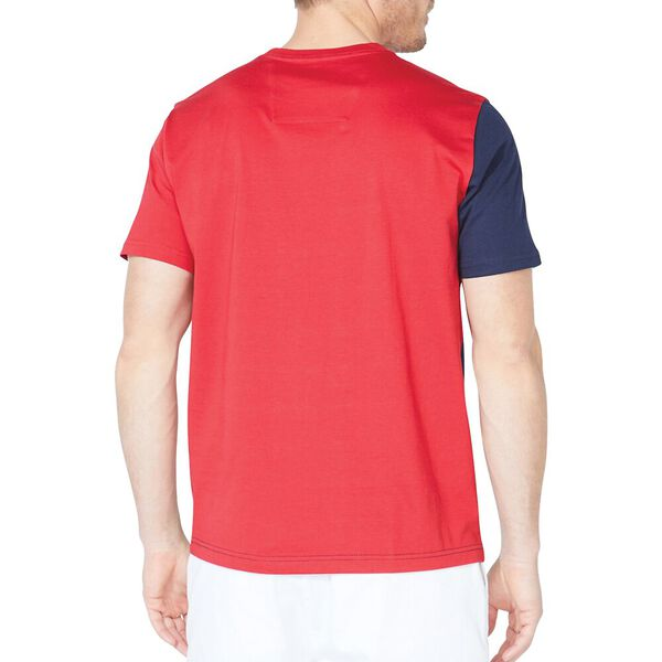 Classic Fit Split Side Tee, Nautica Red, hi-res