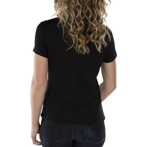 Anchor Scoop Neck Tee, True Black, hi-res