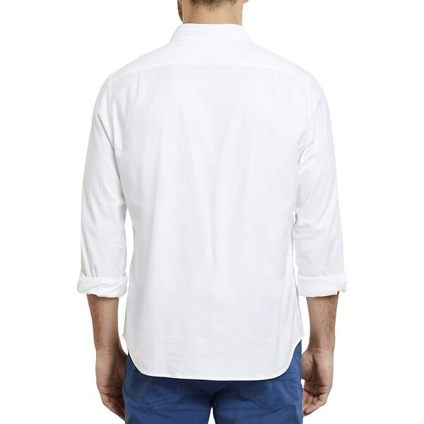 Classic Fit Wrinkle Resistant Stretch Oxford Shirt, Bright White, hi-res