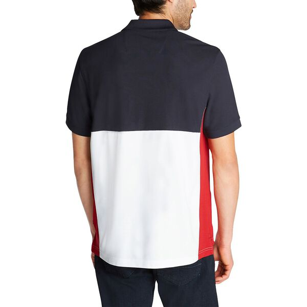 Side Panel Polo Shirt With Logo, Navy, hi-res