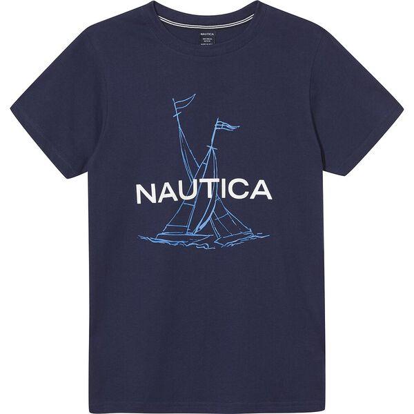 Boys 8 - 14 Rower T-Shirt, Blue, hi-res