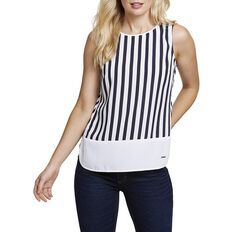PYJAMA STRIPE SWING TOP