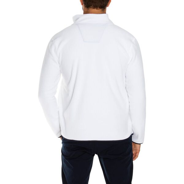 Nautex Pop Collar Full Zip Fleece, Bright White, hi-res