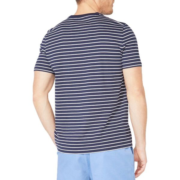 Striped Jersey Tee, Navy, hi-res