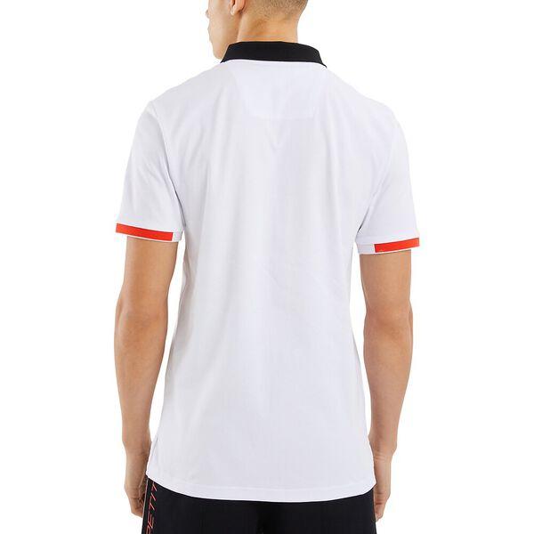 Nautica Competition Fantail Polo, White, hi-res