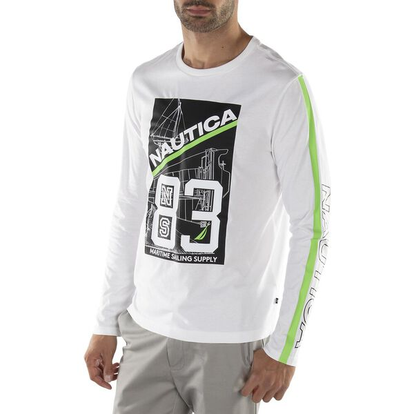 The 80's Supply Graphic Long Sleeve Tee, Bright White, hi-res
