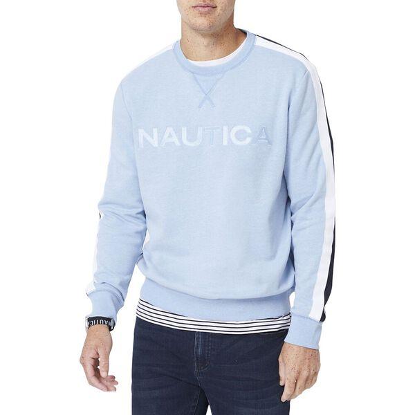 Vintage Fit Nautica Logo Crew Neck Sweater, Billy Boy Blue Heather, hi-res