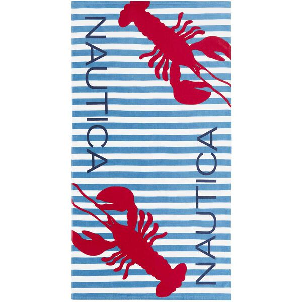 Lobster Printed Beach Towel