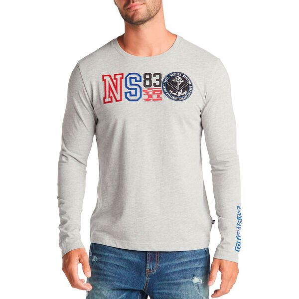 Big & Tall Ns83 Long-Sleeve Tee, Grey Heather, hi-res