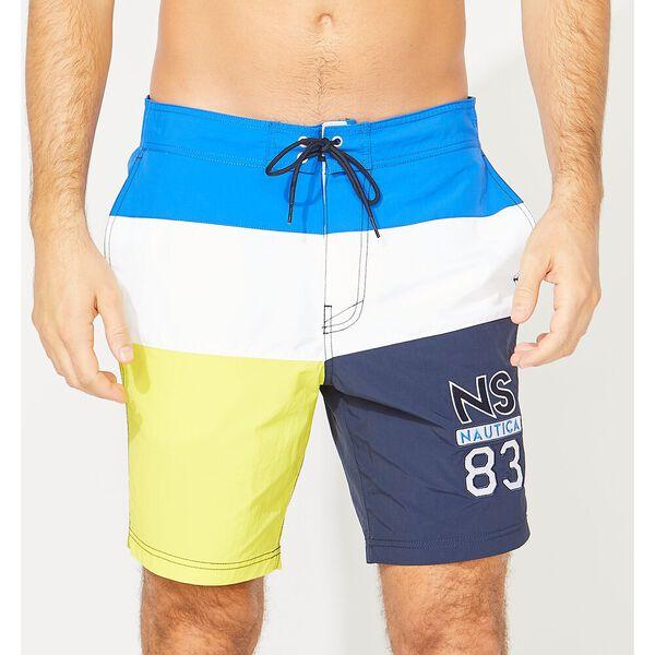 "18"" NS-83 Colourblock Swim Trunks, Bright Nautica Blue, hi-res"