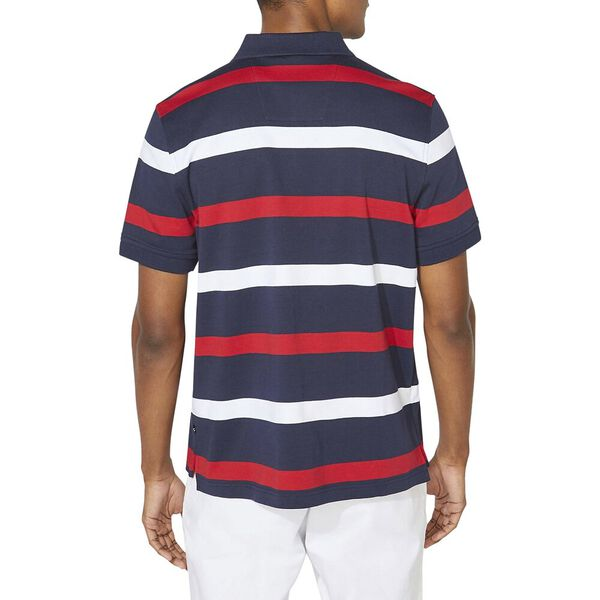 Classic Fit Premium Cotton Stripe Polo, Navy, hi-res