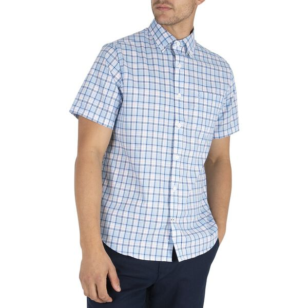 Classic Fit Navtech Summer Plaid Shirt, Little Boy Blue, hi-res