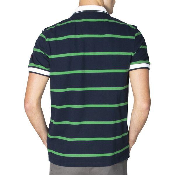 Slim Fit Harvard Stripe Polo, Navy, hi-res