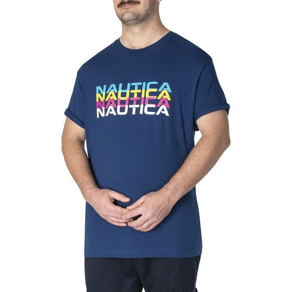 Big & Tall Mirror Nautica Tee, Estate Blue, hi-res