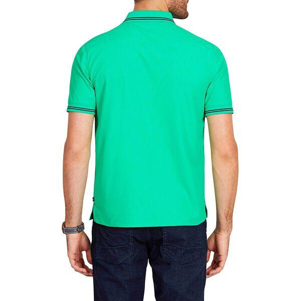 STRIPE EDGE SHORT SLEEVE POLO SHIRT, BRIGHT GREEN, hi-res