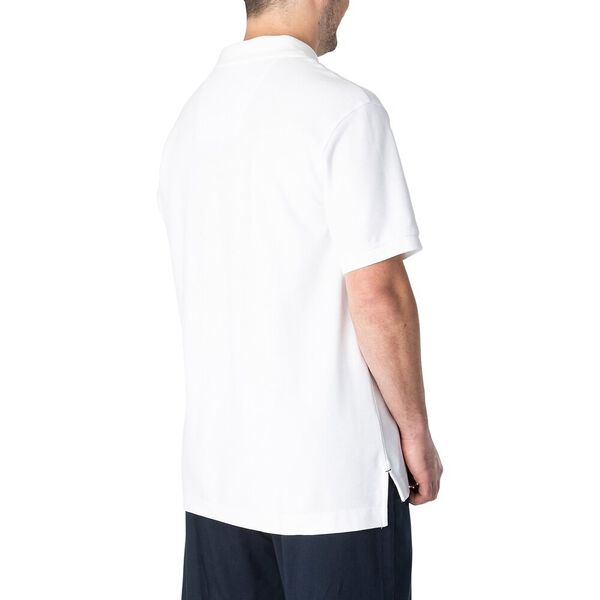 Big & Tall Short Sleeve Deck Polo, Bright White, hi-res