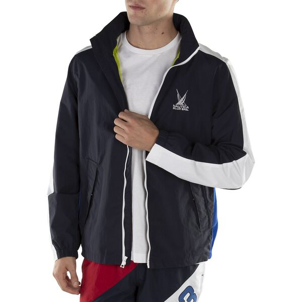 BLUE SAIL CIRCULAR BOMBER WINDBREAKER