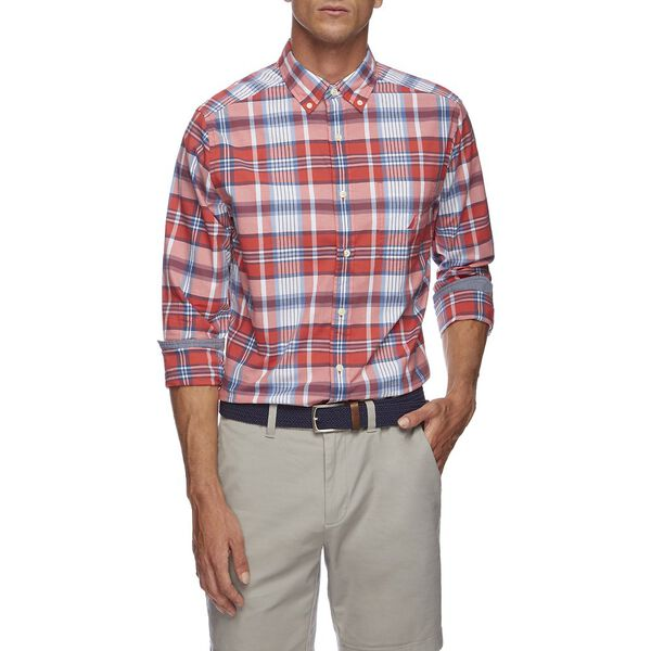 LONG SLEEVE PLAID POPLIN SHIRT