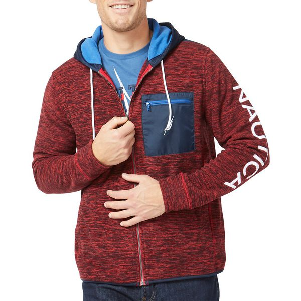 Nautex Full Zip Hoodie, Nautica Red, hi-res