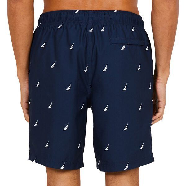 """18"""" All Over Printed J-Class Swim Trunks, Navy, hi-res"""