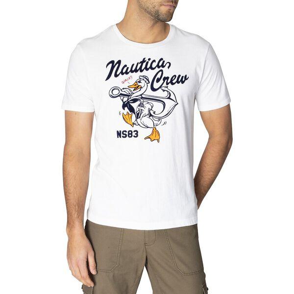 Nautica Goose Crew Tee, Bright White, hi-res