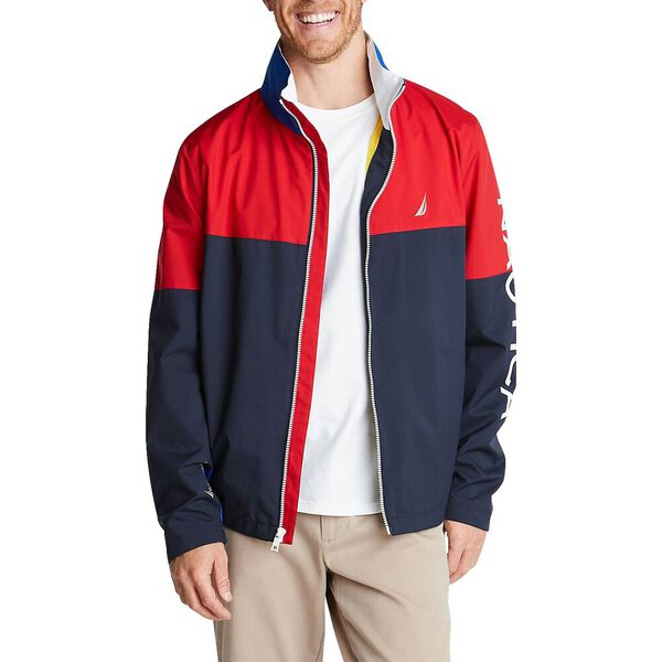 Colour Blocked Heritage Bomber