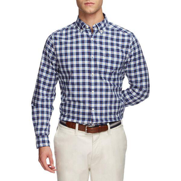Navtech Plaid Long Sleeve Shirt, Just Navy, hi-res