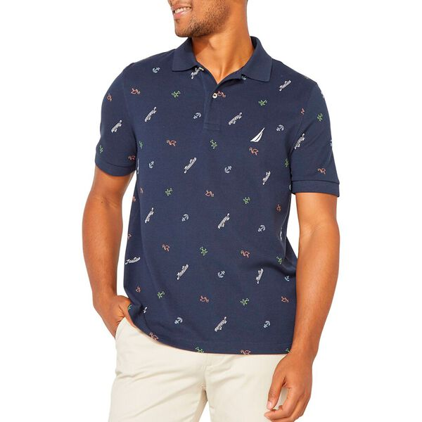 Martime Icon Polo  Shirt, Navy, hi-res