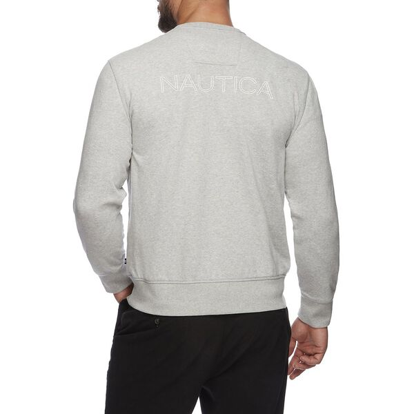 J Class Crew Neck Sweater, Grey Heather, hi-res