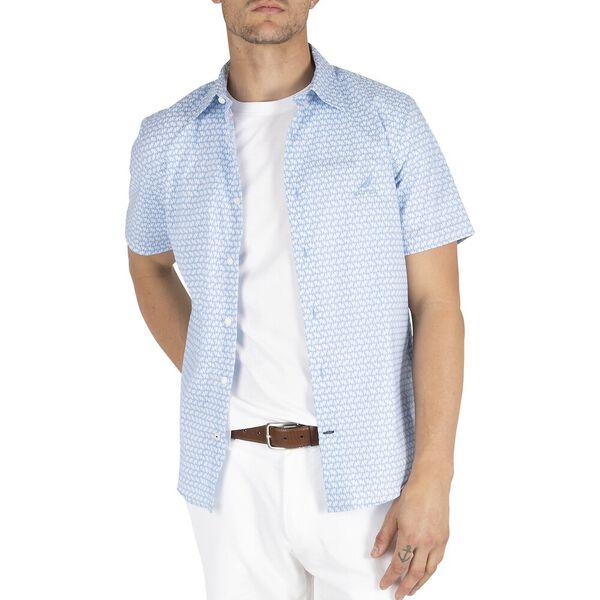 Navtech Sail Boat Print Shirt, Lake Blue, hi-res