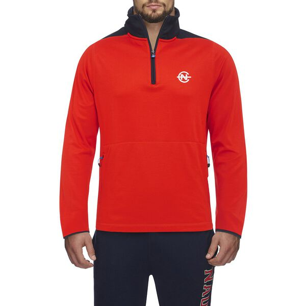 Nautica Competition Shoulder Piece Zip Sweater