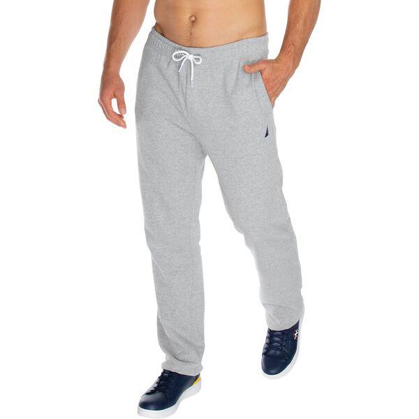 Solid Straight Leg Track Pants, Grey Heather, hi-res