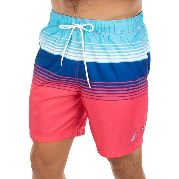 Nautica Stripe Block Swim Shorts, Paradise Pink, hi-res