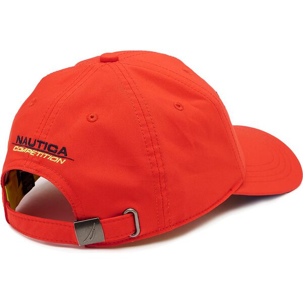 NAUTICA COMPETITION CLRBLCK BASEBALL CAP, FIREY RED, hi-res