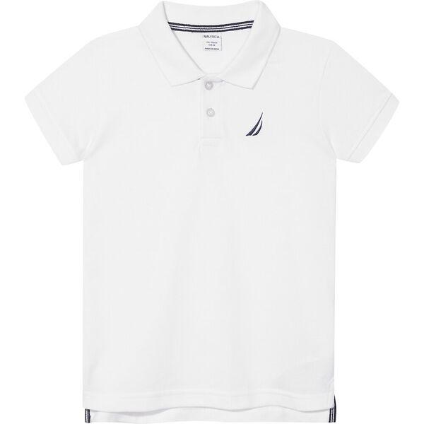 Boys 8-14 Mini Anchor Deck Short Sleeve Polo, White, hi-res
